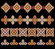 Celtic ornaments. Bright celtic ornaments over black background Royalty Free Stock Photos
