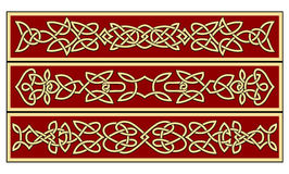Celtic ornaments. And patterns for irish or religious design Royalty Free Stock Photo