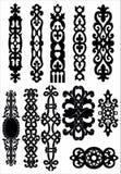 Celtic ornate elements stock images