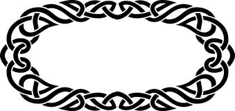 Celtic Oval Frame Royalty Free Stock Photos