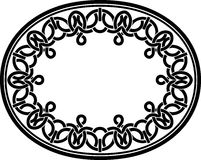 Celtic Oval Frame Royalty Free Stock Photo