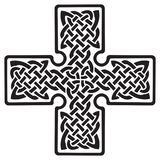 Celtic pagan cross. Isolated on white, vector illustration Stock Image