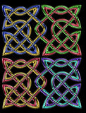 Celtic pair knots Royalty Free Stock Images