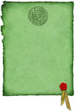 Celtic Parchment w/ Wax Seal Royalty Free Stock Photography