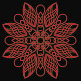 Celtic pattern. Celtic red pattern in form of flowers Royalty Free Stock Photography