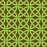 Celtic pattern brown. Vector seamless pattern with traditional celtic motives Stock Images