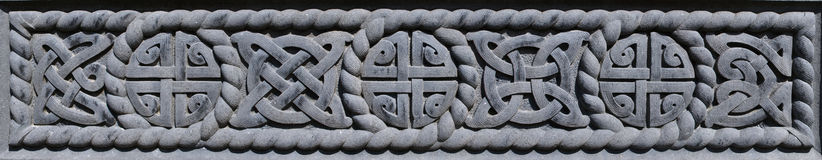 Celtic pattern. Celtic decoration from old tombstone Royalty Free Stock Photo