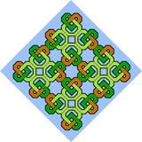 Celtic pattern illustration. A Celtic pattern illustration in orange, yellow, green and blue royalty free illustration