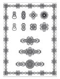 Celtic pattern. Linked black white pattern the crossed seamless royalty free illustration