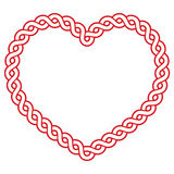Celtic pattern red heart shape - love concept fot St Patrick's Day, Valentines. Irish, Celtic heart pattern  isolated on white Stock Images