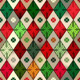 Celtic pattern with rhombuses Stock Image