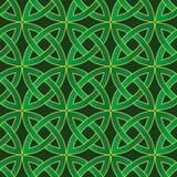 Celtic pattern. Stylized celtic pattern on dark green background Royalty Free Stock Photo