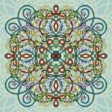 Celtic pattern, vector wicker ornament, hand drawing decorative element. Multicolored wicker weave Royalty Free Stock Images