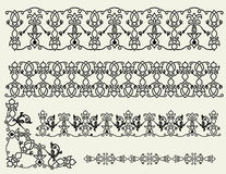 The Celtic patterns, borders and corner. Illustration for design Royalty Free Stock Photo