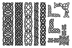 Celtic patterns and celtic ornament corners Stock Image
