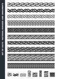 Celtic Patterns And Ornaments Set Royalty Free Stock Photo