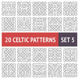 Celtic Patterns Set Stock Images