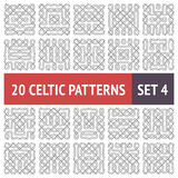 Celtic Patterns Set. Set of 20 black and white Celtic seamless patterns with samples in swatches Royalty Free Illustration