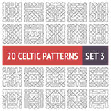 Celtic Patterns Set Stock Photo