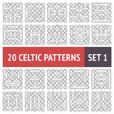 Celtic Patterns Set Royalty Free Stock Photography