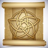 Celtic pentacle. Vintage background with Celtic ornaments and pentacle Royalty Free Stock Photos