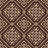 Celtic Plexus Design Pattern. Knitted Wool Seamless Background Royalty Free Stock Images