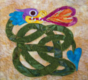 Celtic Quilting. A replica of an ancient Celitc design on a quilt Stock Image