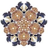 Celtic raven mandala ornament. Vector illustration of raven and Celtic ornament mandala colorful isolated Royalty Free Stock Photos