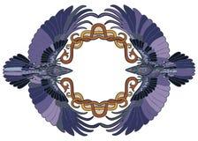 Celtic ravens pair in love frame Royalty Free Stock Images