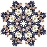 Celtic ravens round textile pattern Royalty Free Stock Photography