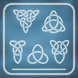 Celtic rope knotes Stock Images