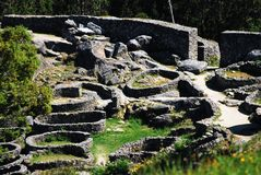 Celtic ruins. On the hill of Santa tecla Royalty Free Stock Images