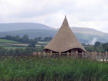 Celtic Scene. A reproduction of a celtic roundhouse Royalty Free Stock Image