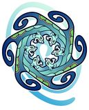 Celtic sea serpents Royalty Free Stock Photos