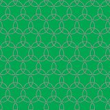 Celtic seamless pattern. Colored with green. Stock Photography