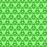 Celtic seamless pattern. Colored with green. Stock Image