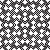 Celtic seamless pattern of intersecting double rhombuses Stock Image