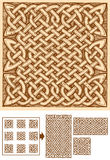 Celtic seamless pattern. Seamless celtic knots patterns in ink hand drawn style. Pattern is composed of 9 elements. Central can be copied and pasted endless Stock Image