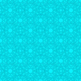 Celtic seamless pattern in Medieval style in turquoise and blue Royalty Free Stock Image