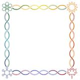 Celtic seasons frame - square Royalty Free Stock Image