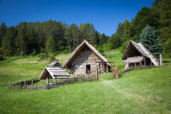 Celtic settlement at Havranok - Slovakia. Celtic settlement at open-air museum Havranok - Slovakia stock photography