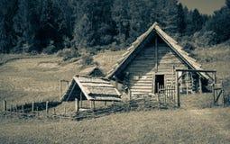 Celtic settlement at Havranok - Slovakia. Celtic settlement at open-air museum Havranok - Slovakia royalty free stock image