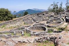 Celtic settlement in Pontevedra. Galicia. Spain. Celtic settlement on Mount Santa Tecla. Pontevedra Stock Image