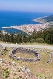Celtic settlement in Pontevedra. Galicia. Spain. Celtic settlement on Mount Santa Tecla. Pontevedra Royalty Free Stock Image