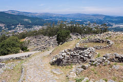 Celtic settlement in Pontevedra. Galicia. Spain. Celtic settlement on Mount Santa Tecla. Pontevedra Royalty Free Stock Images