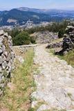 Celtic settlement in Pontevedra. Galicia. Spain. Celtic settlement on Mount Santa Tecla. Pontevedra Stock Photo