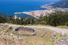Celtic settlement in Pontevedra. Galicia. Spain Stock Image