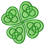 celtic shamrock vektor illustrationer