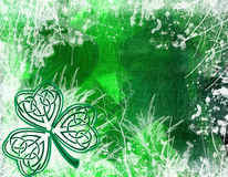 Celtic Shamrock background Stock Photography
