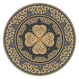 Celtic shield, decorated with a ancient European pattern Stock Photos